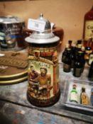 20th. C. German stoneware beer mug