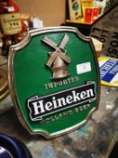 Imported Heineken Holland Beer advertisement.