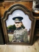 General Michael Collins framed coloured print.