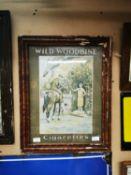 Wild Woodbine Cigarettes showcard