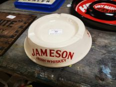 1970's Jameson Irish Whiskey ceramic ashtray.