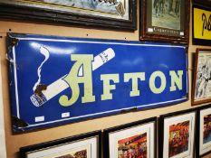 Afton Cigarettes enamel advertising sign.