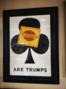 Gold Flake Are Trumps framed advertising sign.