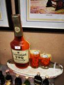 1980's Cronet Buq Brandy showcard.