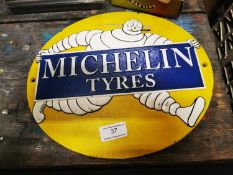 Michelin Tyres cast iron advertising sign