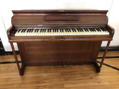 Neat mahogany upright piano