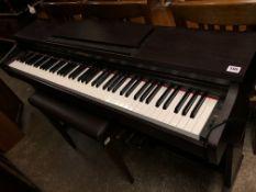 KAWAI ELECTRIC PIANO AND STOOL