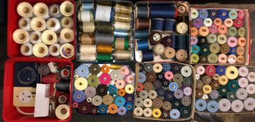 BOXES AND TINS OF REELS OF COTTON AND YARN