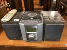 JVC MICRO HI-FI AND SPEAKERS WITH REMOTE