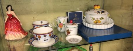ROYAL WORCESTER EVESHAM POTS AND COVERS, ;PIN DISHES,