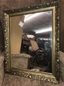 GILT AND MOULDED FRAME MIRROR