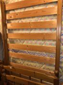 PINE SPINDLE RAIL SINGLE BED FRAME