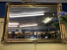 GILT SWEPT FRAMED MIRROR
