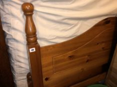 HONEY PINE DOUBLE BED FRAME AND MATTRESS