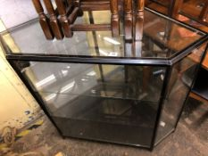 CANTED GLAZED SHOP DISPLAY CABINET