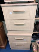 PAIR OF LIGHT OAK TWO DRAWER BEDSIDE CHESTS