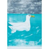 Elisabeth Frink (1930–1993), HERRING GULL (FROM SEABIRD SERIES), 1974 [WISEMAN, 88], Colour lithogra