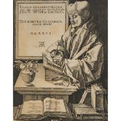 After Albrecht Dürer (1471-1528), ERASMUS OF ROTTERDAM, 1526 [HOLLAND, 105], Engraving on wove paper