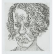 Lucian Freud (1922-2011), GIRL WITH FUZZY HAIR, 2004 [FIGURA, 63], Etching on Sommerset White paper;