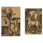 After Albrecht Dürer (1471-1528), THE NATIVITY [HOLL., 3]; THE LITTLE HORSE [HOLL., 93], Two engravi