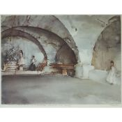 Sir William Russell Flint (1880-1969), THE DUBIOUS BERNINI, 1962, Colour offset lithograph; signed