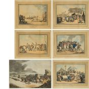 Thomas Rowlandson (1756-1827), SIX PRINTS, INCLUDING FIVE PRINTS FROM THE RACING SERIES, 1798; AND A