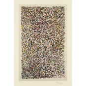 Mark Tobey (1890–1976), STAINED GLASS, 1974, Colour lithograph with tone on wove paper; signed and n