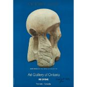 Henry Moore (1898–1986), POSTER: OCTOBER 26, 1974 / ART GALLERY OF ONTARIO RE OPENS (FEATURING HENR