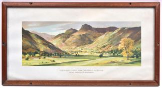 3x Railway Carriage Prints. All framed and glazed. Containing; a print by Greene, 'The Langdale