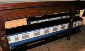 A 5 inch gauge railway riding truck in the form of a BR Mk.II bogie coach. A Full Third coach,