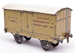 A Gauge One Marklin for GNR 7-ton Insulated Refrigerator Van, 2883. With cream litho printed sides