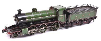 A Gauge One railway Bing for Gamages GNR Class K1 2-6-0 tender locomotive, 120. Originally live