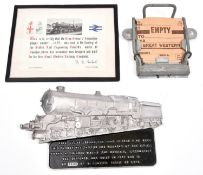 2x items of GWR interest. A limited issue cast aluminium plaque celebrating the GWR King Class 4-6-0