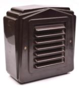An Art Deco style 1940s brown bakelite Public Announcement speaker. GC-VGC for age. £30-50