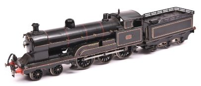 A Gauge One railway LNWR 4-6-0 tender locomotive 'Experiment' RN 66. For 3-rail running in lined