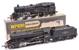 2 OO Locomotives. Wrenn B.R. 2-6-4 Standard tank locomotive (W2218) RN80033, in lined black