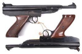 "A German .22"" Em-Ge Model LP30 air pistol, number 40929. GWO & near VGC (a few scratches to blued"