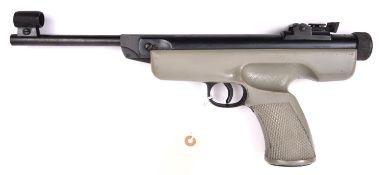 "A .22"" Original Mod 5 break action air pistol, with one piece grey plastic stock. GWO & C, retaining"