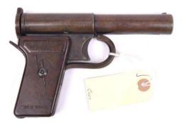 "A scarce .177"" ""Thunderbolt Junior"" air pistol, c late 1940s, the rear barrel cover plated"