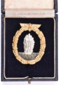 "A Third Reich Mine Sweeper, Submarine Hunter and Escort Vessel badge, marked ""RS"" on reverse ("