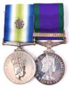 An interesting and substantial Falklands collection including Pair: South Atlantic Medal, 1982,