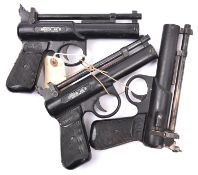 """2 .177"""" Webley Junior Mk II air pistols, GWO & C (would benefit from cleaning); and another. GWO &"""