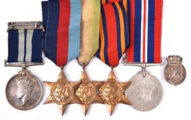 A WWII DSM group awarded for a VC action in the Norwegian Fjords, comprising Five: D.S.M. George