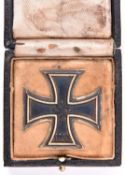 A WWII Third Reich Iron Cross 1st class, in its case. GC £120-140