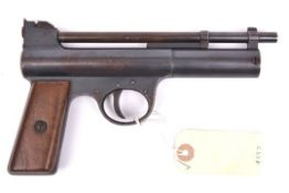 """A scarce early .177"""" Webley Mark I air pistol, from the first year of production, number 5313 ("""