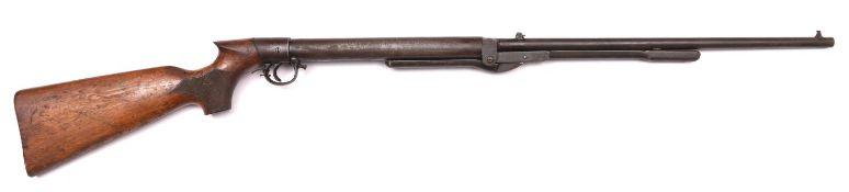 "A .22"" ""large"" model BSA ""Improved Model D"" underlever air rifle, 45½"" overall, barrel 19½"","