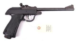 "A .177"" Polish Predom break action air pistol, number P7382, dated 1976. GWO & Near VGC, retaining"