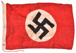 "A printed Third Reich N.S.D.A.P. flag, marked ""N.S.D.A.P. 1940 55 x 100"" GC £80-120"