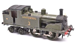 An O gauge coarse scale Southern Railway Class T1 0-4-4T locomotive for 3-rail running. A kit-
