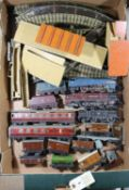 18+ items of Hornby Dublo railway for 3-rail running. Including 3xx locomotives; an LNER Class A4